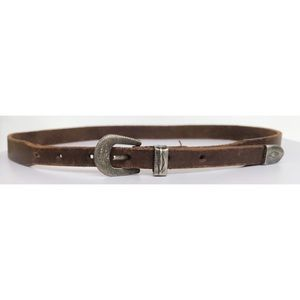 Vintage Banana Republic English saddle hide belt